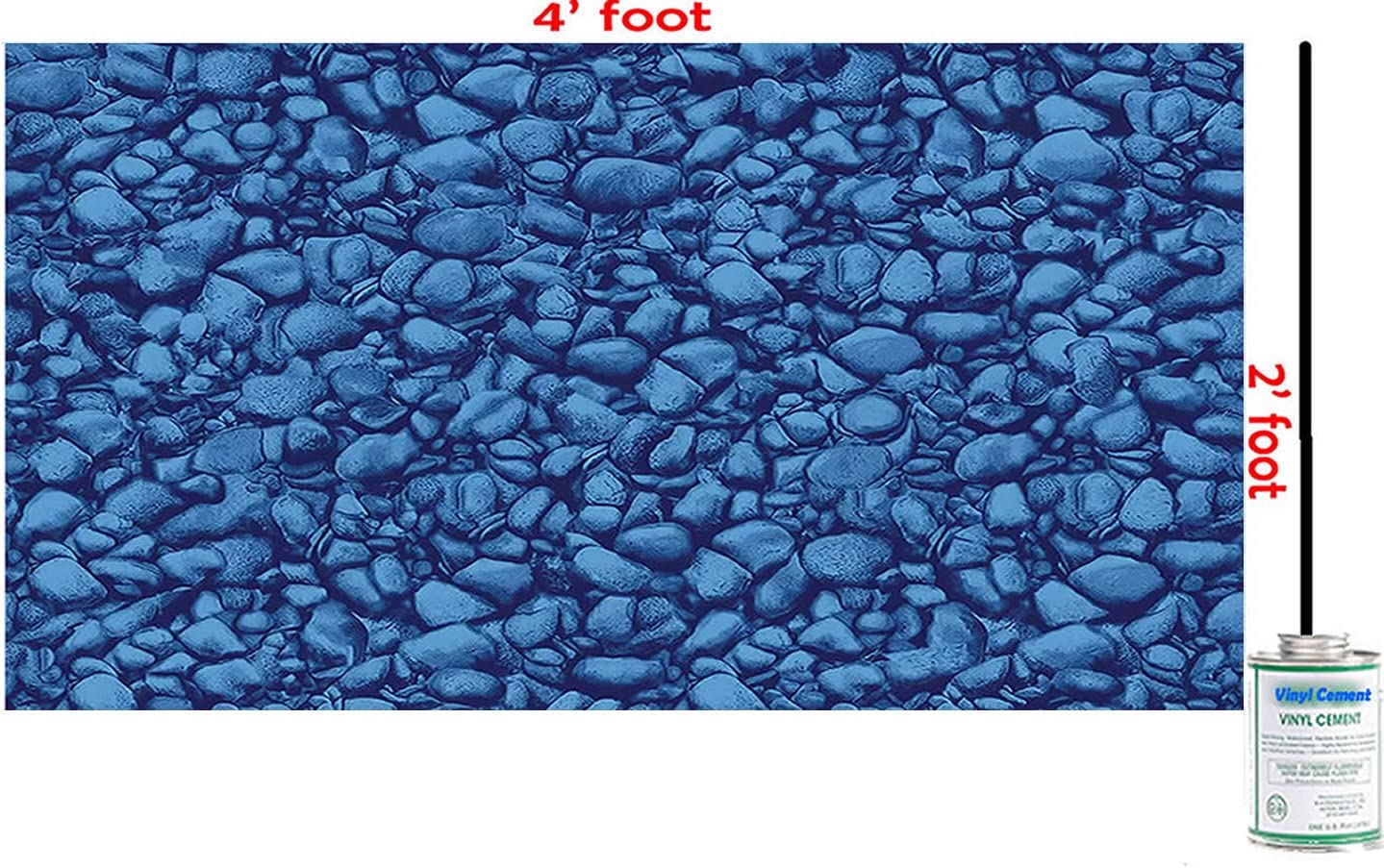 Blue River famous Rock 4 Ft X Ranking TOP18 Above Swimming Vinyl Inground Pool 2