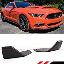 Fits for 2015-2019 Ford Mustang MD Style Front Bumper Corner Chin Spoiler Winglet Splitters Pair