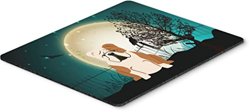Caroline's Treasures Halloween Scary English Bulldog Fawn White Mouse Pad,  Multicolor, 7.75x9.25 (BB2315MP)