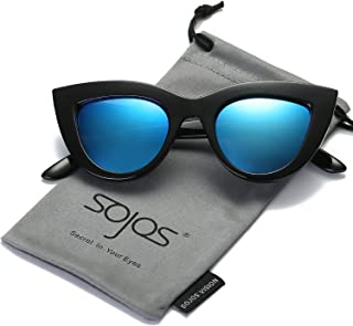 30321a9f931 SOJOS Retro Vintage Cateye Sunglasses for Women Plastic Frame Mirrored Lens  SJ2939