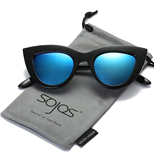 be428bc71adc SOJOS Retro Vintage Cateye Sunglasses for Women Plastic Frame Mirrored Lens  SJ2939