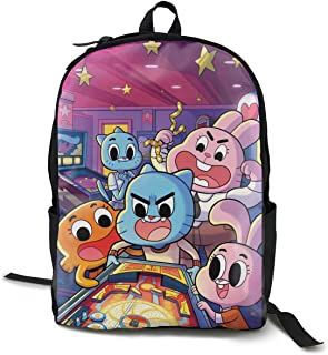 The Amazing World Of Gumball Lightweight Teenager Backpack Black