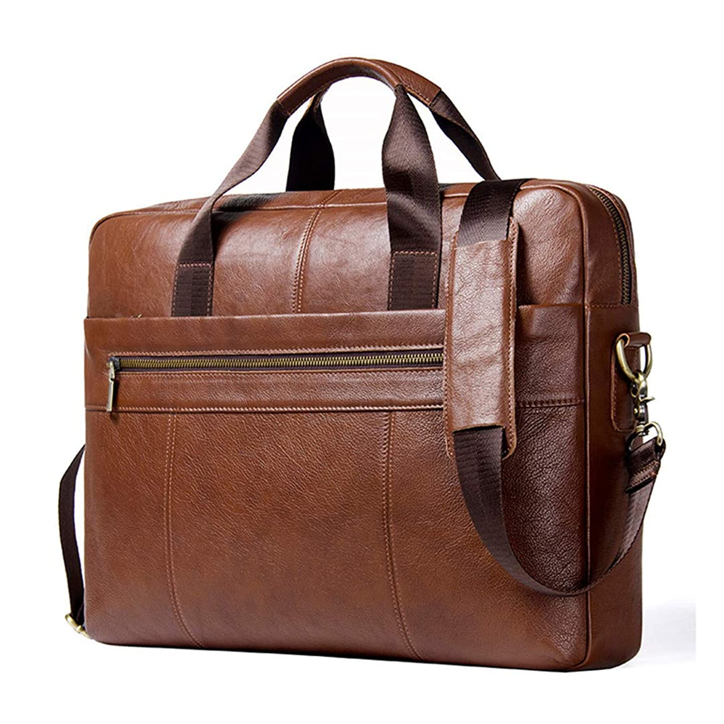 Leather Male Messenger Bag For 15.6