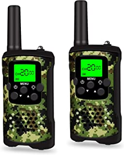 LET'S GO! DIMY Walkie Talkies for Kids, 2 Mile Range, Built in Flash Light TM388 - Best Gift