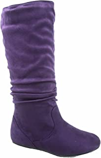 Best wide calf purple boots Reviews