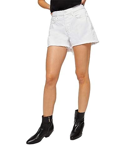 7 For All Mankind Monroe Cutoffs Shorts in Clean White Rigid Women