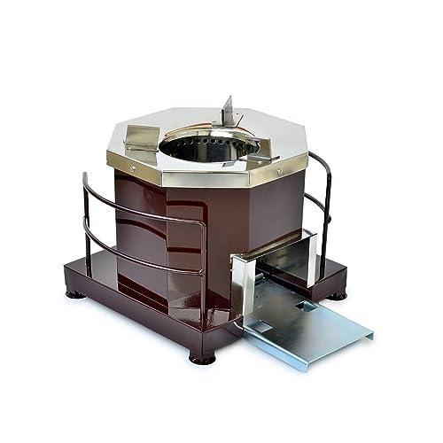 AGNEEKAA Ecomini Steel Biomass Cook Stove - Brown