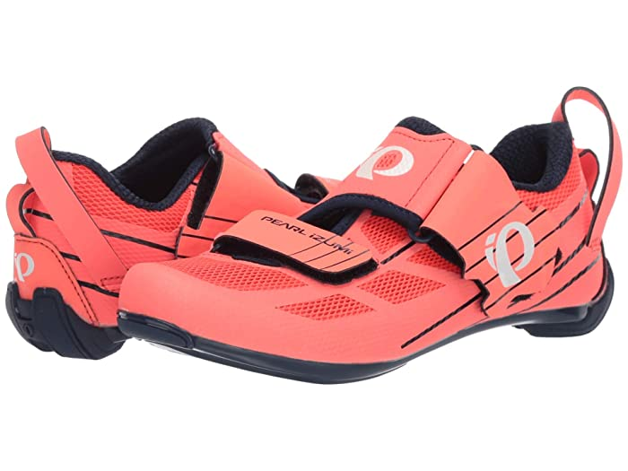 Pearl Izumi  Tri Fly Select V6 (Navy/Fiery Coral) Womens Cycling Shoes