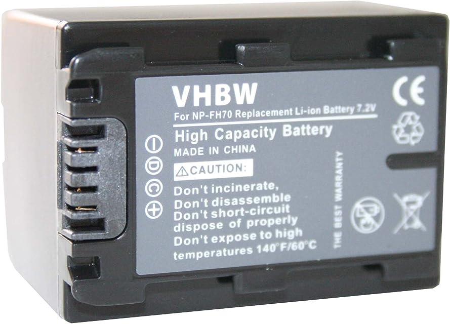 vhbw 2X Baterías Li-Ion 950mAh (7.2V) para cámara videocámara Sony DCR Serie DCR-SR36(E) DCR-SR37 DCR-SR37E y NP-FH40 NP-FH50 NP-FH70.