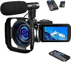 SAULEOO 4K Video Camera Camcorder Digital YouTube Vlogging Camera Recorder UHD 30MP 3..