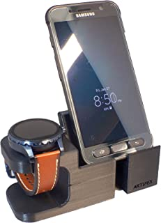 Artifex Design Stand Configured for Fossil Q Wander/Marshal/Founder V2 Charging Stand, Charging Dock Stand, (Combo)