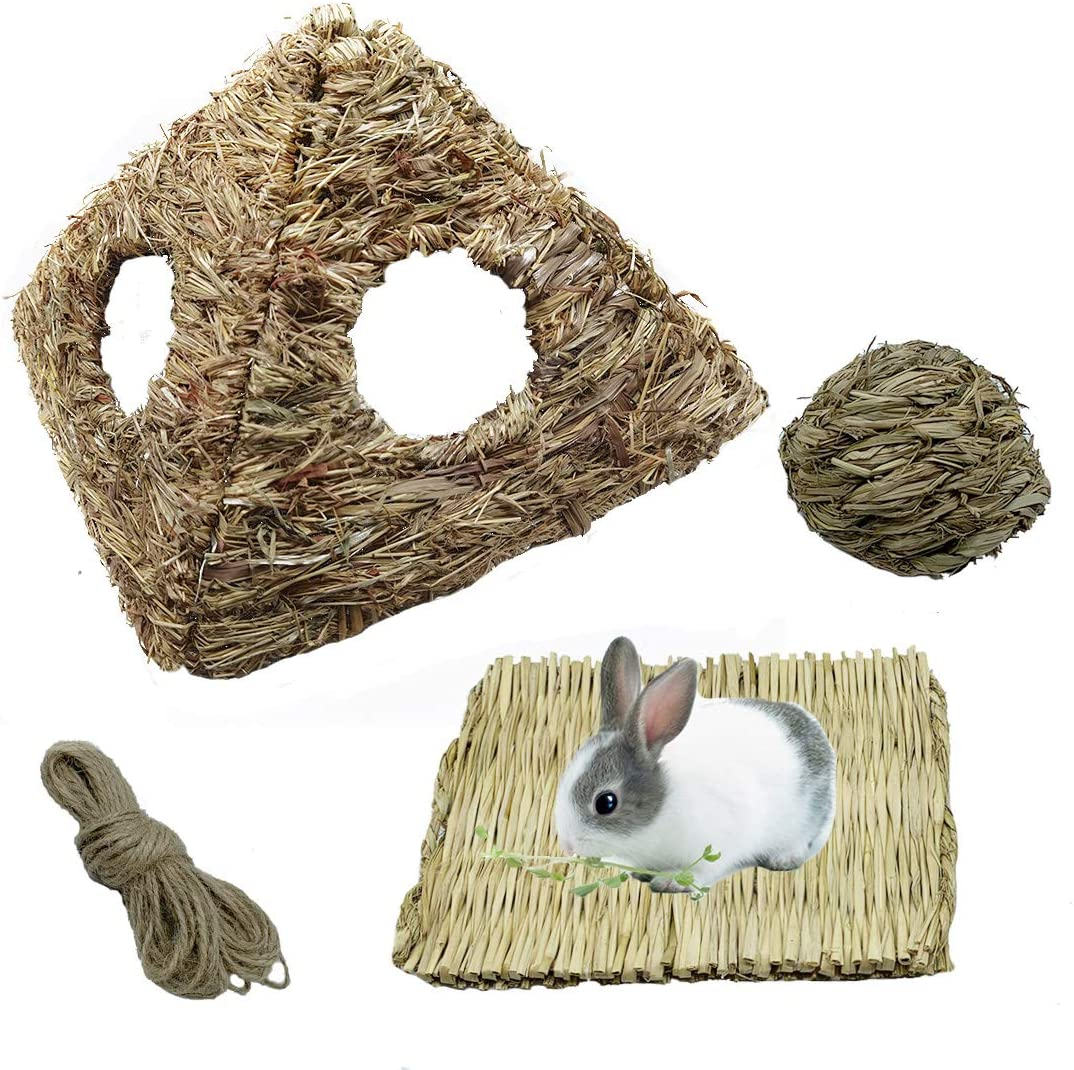Tfwadmx Recommendation Elegant Rabbit Grass House Large Hideout Bunny H Pyramidal Woven