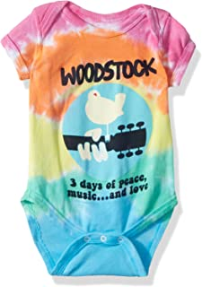 Liquid Blue Baby Woodstock Banded Short Sleeve Onesie