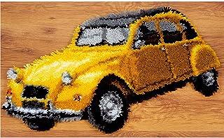Lanrui Kit De Crochet De Bricolage avec Kit D'artisanat De Fil, Kits De Tapis À Crochet, Kits De Fils De Crochet, Aiguille...