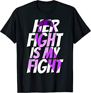 Violet Ribbon for Her Products Hodgkin Lymphoma Awareness T-Shirt