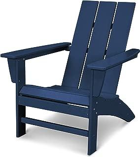 navy blue polywood adirondack chairs