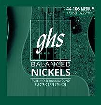 ghs balanced nickels bass strings