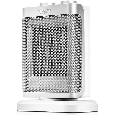 Cecotec Ready Warm 6100 Ceramic Rotate - Calefactor Baño Cerámico Oscilante, 1500 W, Termostato Regulable, 3 Modos, Protección sobrecalentamiento y antivuelco, Silencioso, 25 m2