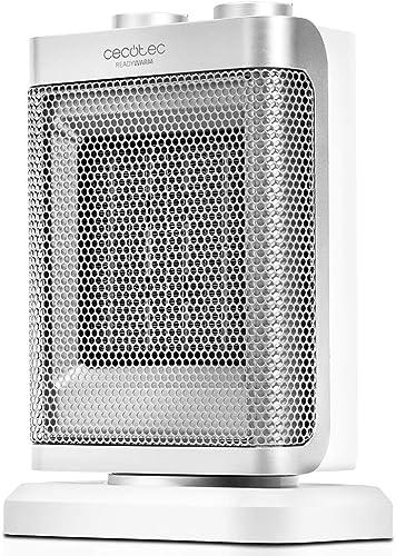Cecotec Calefactor Ready Warm 6100 Ceramic Rotate Oscilante, 3 Modos, Termostato Regulable, Sistema Antivuelco, Prote...