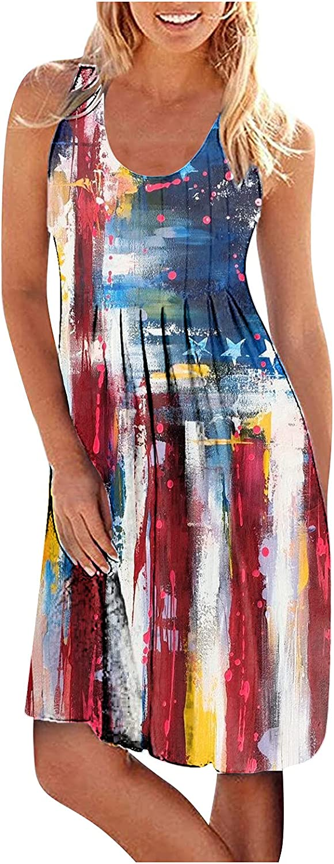 Summer Dresses for Women 2021 Tank Wais Shirt Short Max 85% OFF midi Charlotte Mall Elastic