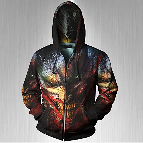 Hoodies Sizes S-3XL New Superman Super Distressed Adult Pullover Hoodie