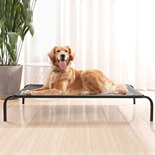 Pet Bed Dog Steel Frame Bed Summer Pet Mat, Specification:Steel Frame+Mesh, Mesh Size: M 77x60x15cm High Quality