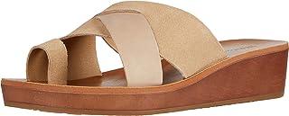 Lucky Brand Women's HELIARA Wedge Sandal, Stone, 6