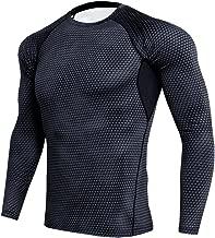 MagiDeal Herren Cool Kompressionsshirt Langarm Fitness Funktions-T-Shirt Langarmshirt Top Fitness Laufshirt