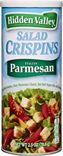Hidden Valley, Salad Crispins, Italian Parmesan, 2.5oz Canisters (Pack of 4)