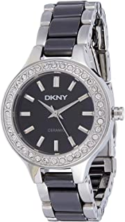 DKNY Women's Black Dial Stainless Steel Band Watch - NY8138