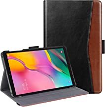 BENTOBEN Case for Galaxy Tab A 10.1 (2019), Premium PU Leather Slim Folding Folio Smart Cover Multiple Angles Viewing Stand with Pencil Holder for Samsung Galaxy Tab A 10.1 SM-T510/T515, Black/Brown