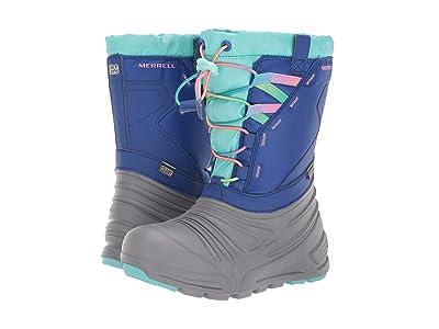 Merrell Kids Snow Quest Lite 2.0 Waterproof (Little Kid/Big Kid) (Grey/Blue/Turquoise) Girls Shoes