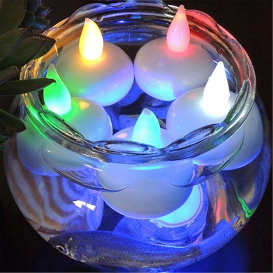 洗練されたコイン換気zsl LEDキャンドル 水センサーライトキャンドル 水に浮かぶ時に自動点灯!! キャンドルライト 防水フローティングライト LED 蝋燭 自然な灯り クリスマス/パーティー/結婚式/誕生日等の用品 ボタン電池付き 12個入り (7色)