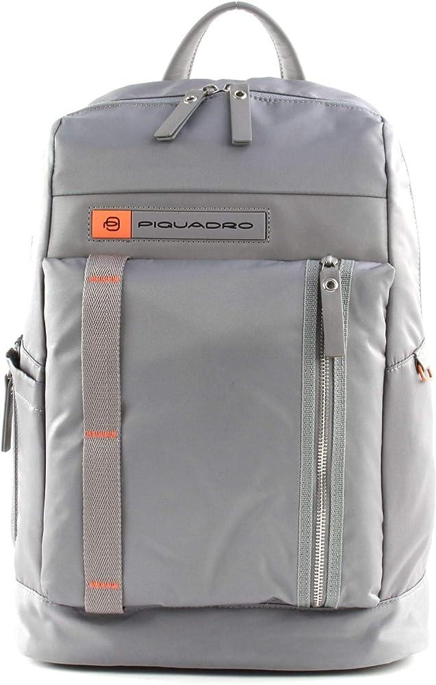 Piquadro pq-bios laptop, zaino porta pc portatile,porta tablet, in nylon econyl CA4545BIO-GR