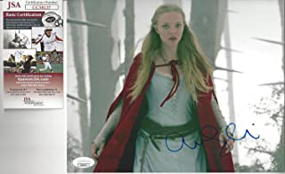 Able Amanda Seyfried Red Riding Hood Autographed 8x10 Color Photo Jsa Certified Television Autographs-original