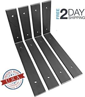 "4 Pack - 10""L x 6""H Angle Shelf Bracket, Iron Shelf Brackets, Metal Shelf Bracket, Industrial Shelf Bracket, Modern Shelf Bracket, Shelving"