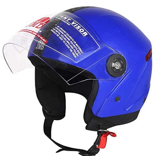 JMD Helmets Grand Open Face Helmet (Blue, M)