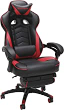 RESPAWN 110 Racing Style Gaming Chair, Reclining Ergonomic Leather Chair with Footrest,..