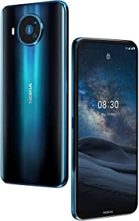Nokia 8.3 5G Android Smart Phone 8/128GB + 128GB MSD, 64 MP Sensor, Front-facing Camera 24 MP, Blue