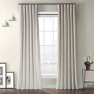 VPYC-161204-96 Heritage Plush Velvet Curtain, 50 x 96, Vanilla
