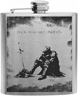 Crown Engraving Souls of The Dark Oscar Night of Astora Stainless Steel Hip Flask 6oz Gift