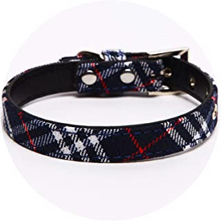 Plaid Dog Collar for Large Dogs Pet Product for Puppies and Kittens Dog Small Collars in Collars Leads and Harnesses Cute