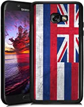Retro Case State Flag of Hawaii for Samsung Galaxy A7 2017 Soft Protective Case Fashion Style Flexible Rubbery Slim Black Phone Case