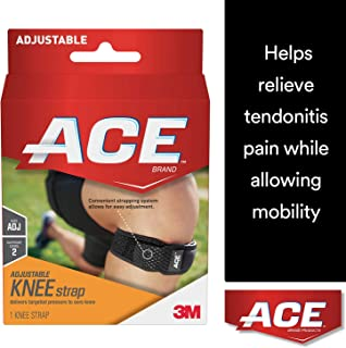 ACE Knee Strap, One Size Adjustable, America's Most Trusted Brand of Braces and Supports, Money Back Satisfaction Guarantee