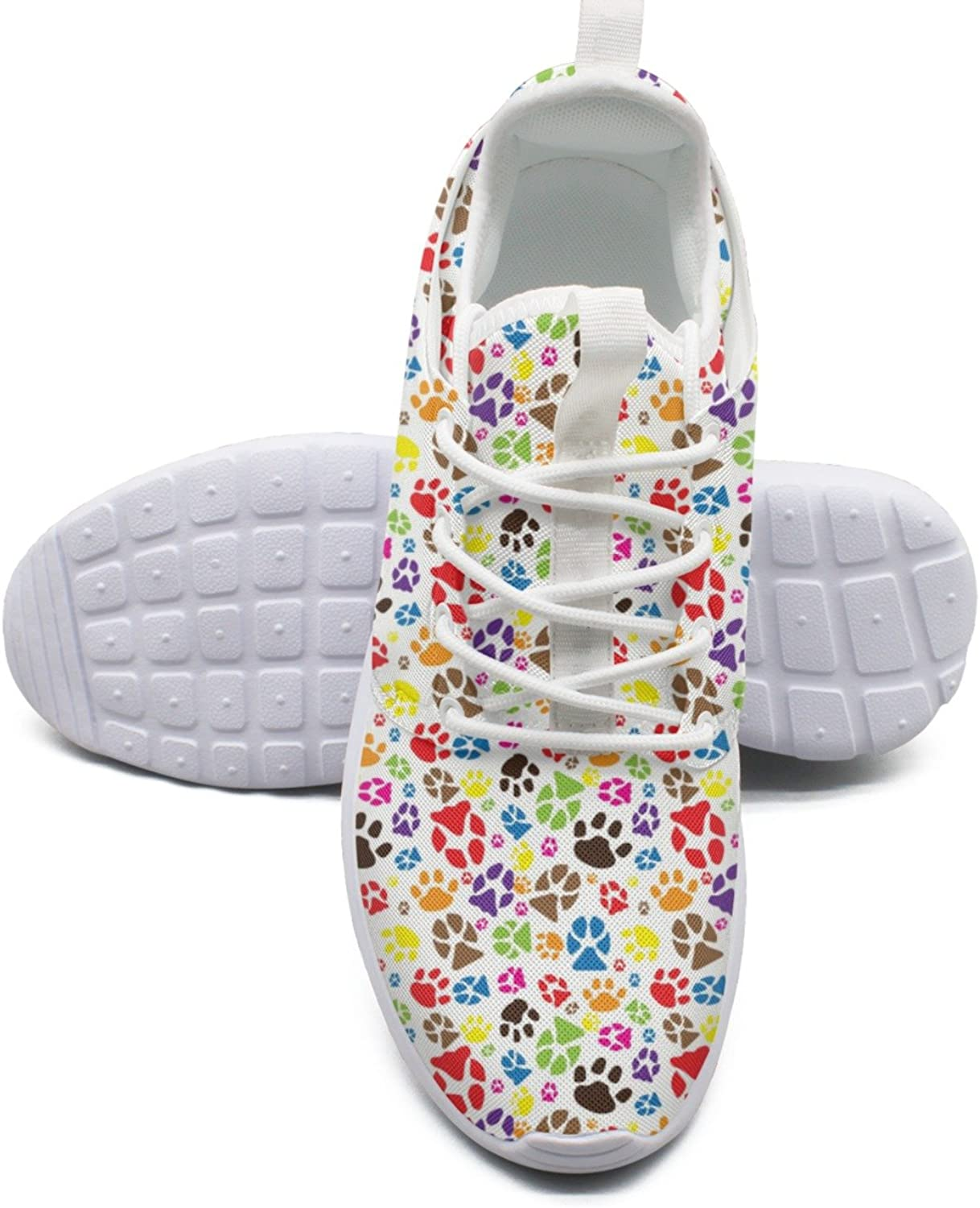 ERSER Colourful Cats Footprint Running shoes Youth Girls