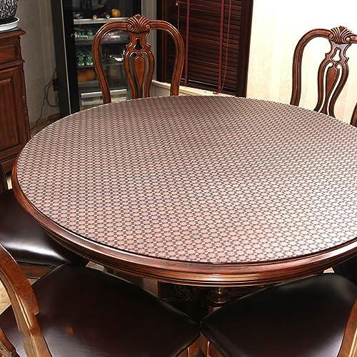 Küchenwäsche Tischdecke, wasserdichte Kristallplatte Couchtisch Tuch PVC Tischdecke 1.5MM ( Farbe   B , Größe   Round-130cm )