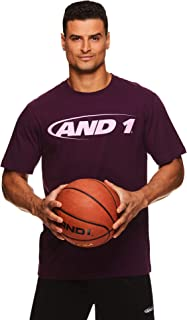 AND1 Men's Graphic Basketball Tee - Short Sleeve Gym & Training Activewear T Shirt