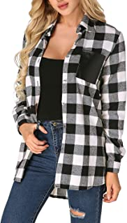 Best black and white flannel top Reviews
