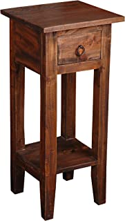 Sunset Trading Shabby Chic Cottage End Table, Small One Drawer, Raftwood