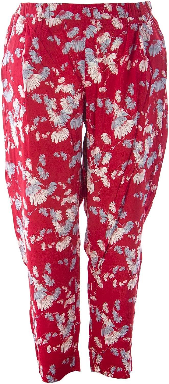 Marina Rinaldi Women's Recale Printed Casual Pants Red